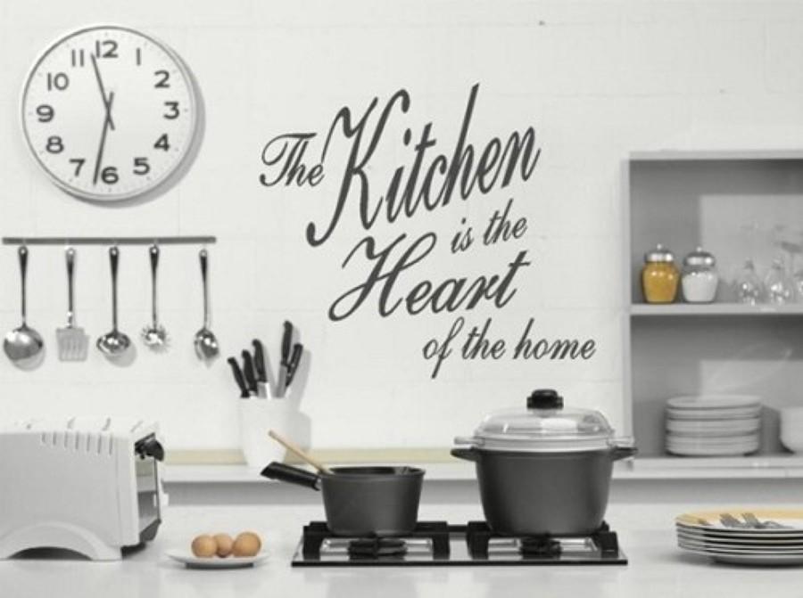 Decora tu hogar con palabras mediante el hand lettering - Cocinas decoracion paredes ...