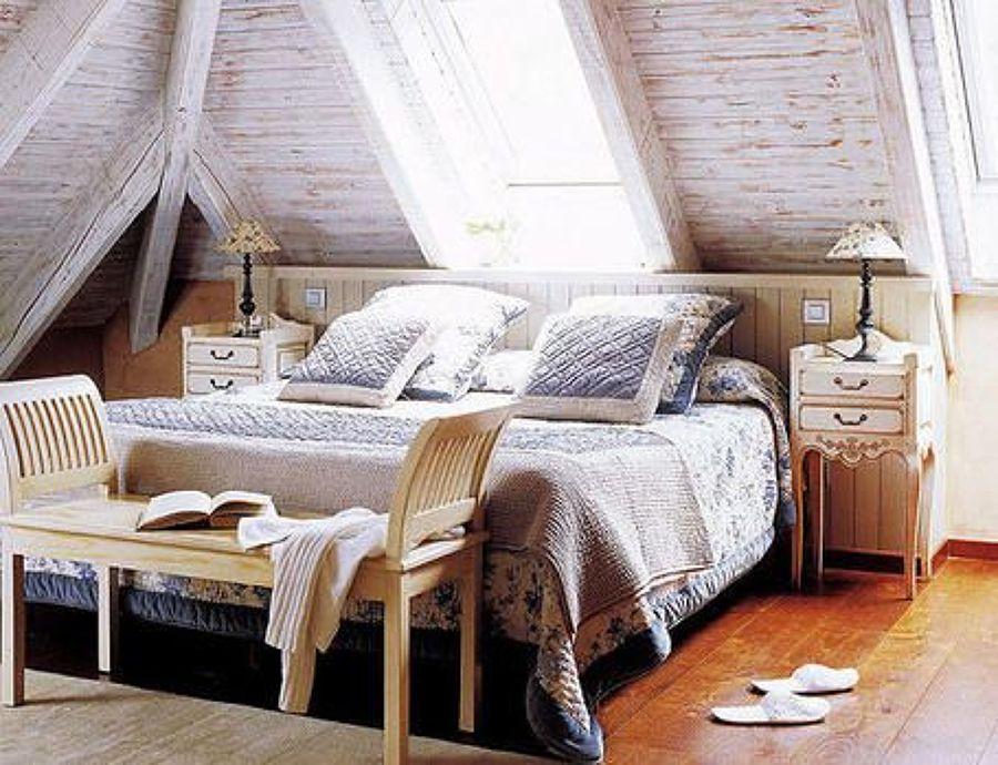 C mo decorar un dormitorio en una buhardilla ideas - Como decorar una buhardilla ...