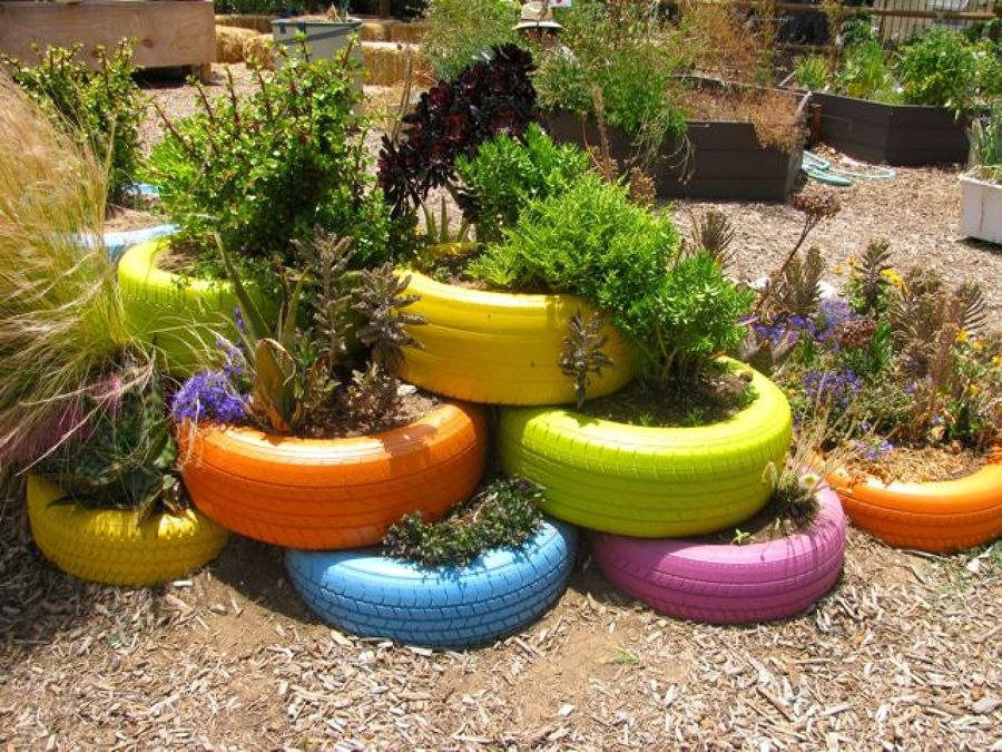Como Decorar El Jardin Con Un Neumatico Ideas Decoradores - Decoracin-jardn