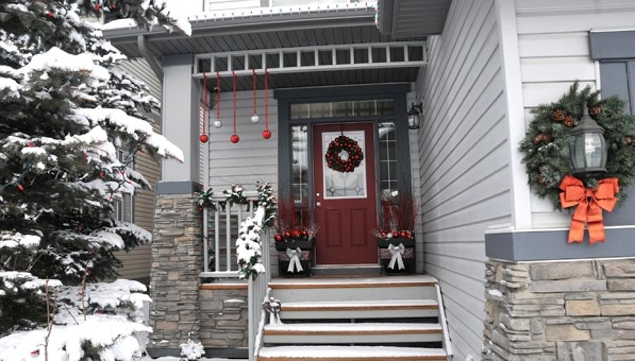 C mo decorar un porche con estilo navide o ideas - Decorar un porche ...