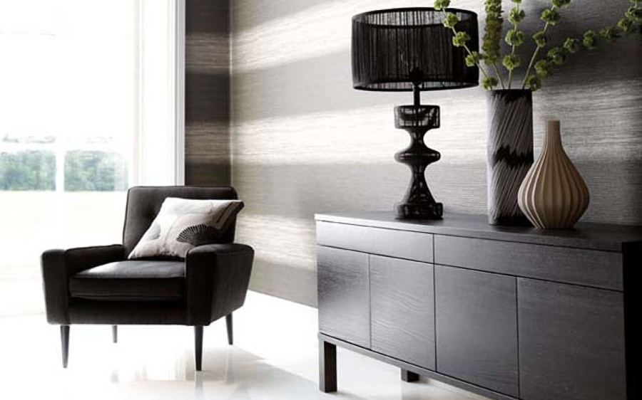 Foto decorar sal n con papel pintado3 811226 habitissimo for Papel pintado salones