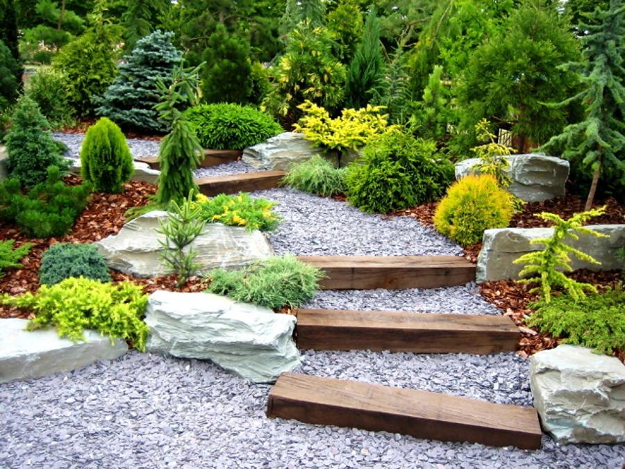 escalones jardín