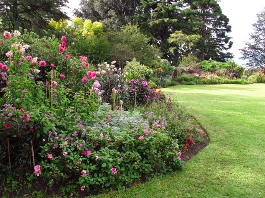 jardin con desnivel