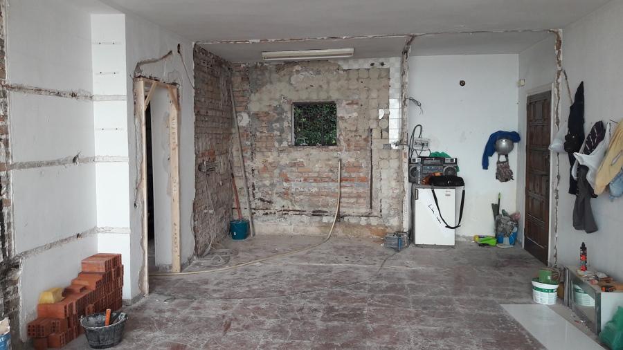 Demolición cocina y salón