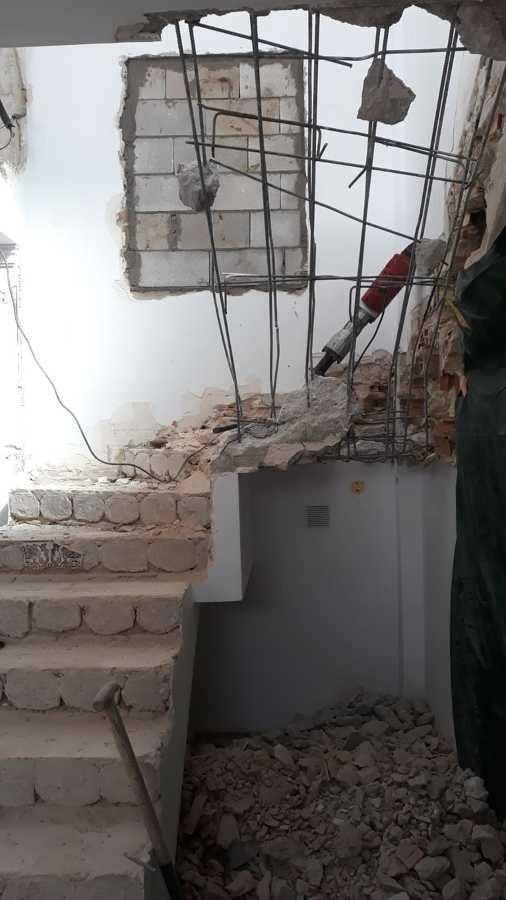 Demolición de escalera