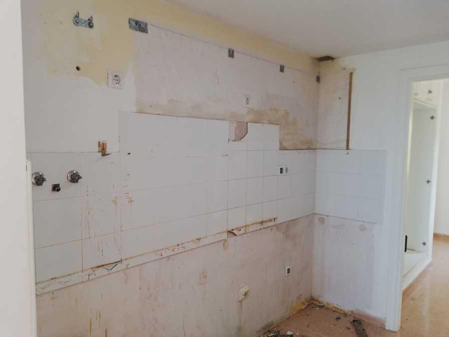 demolición de la cocina