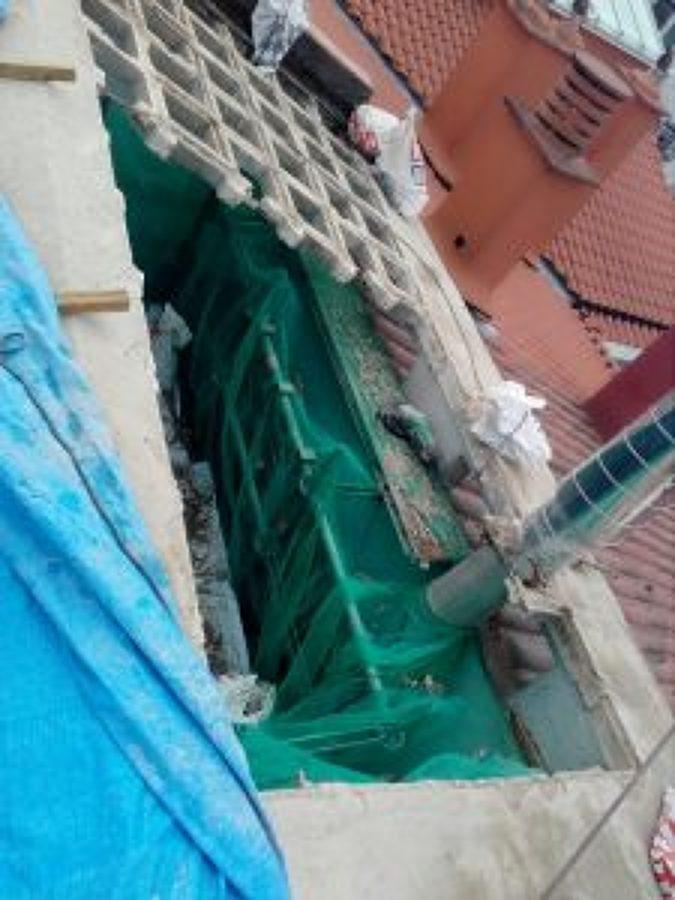 demolición de la estructura de hormigón armado