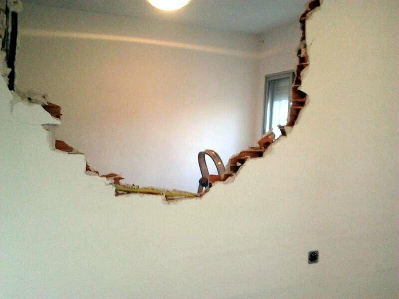 Demolición pared
