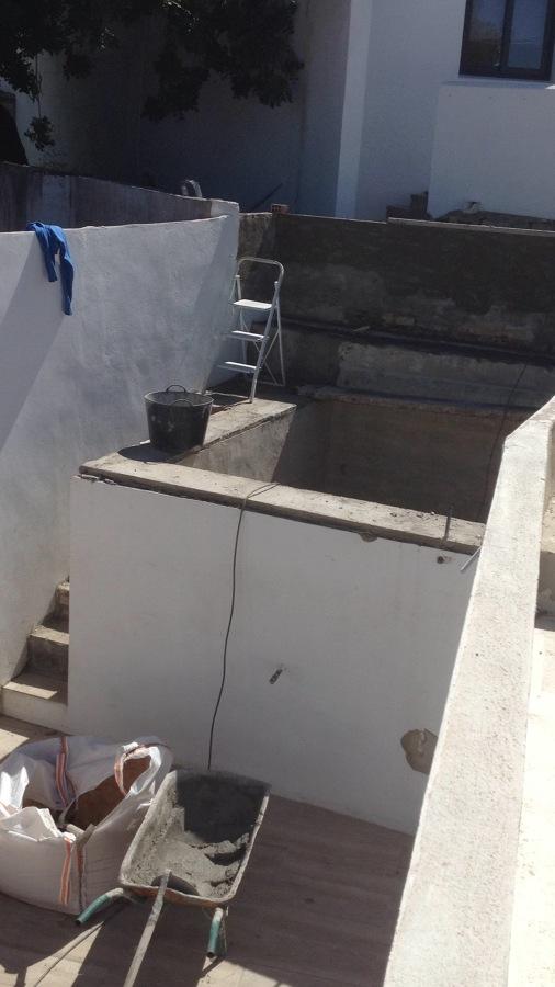 Depósito y escalera