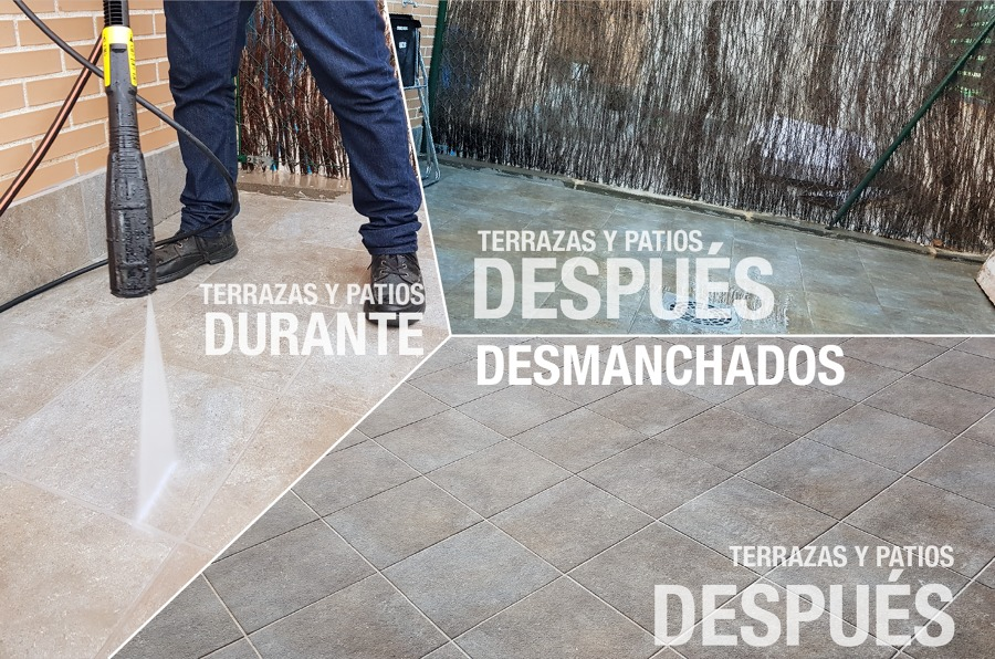 Desmanchado de suelos en terrazas y patios ideas limpieza for Ideas suelo terraza