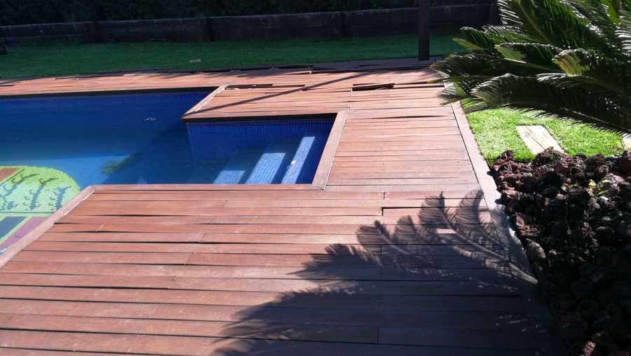 Desmontaje de pavimento de madera
