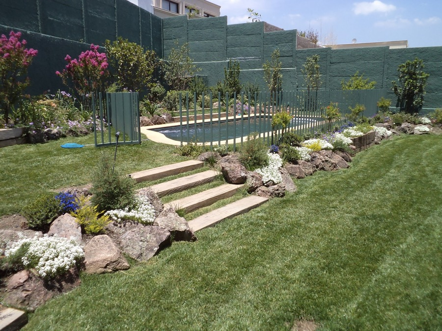 desnivel jardin o terraza