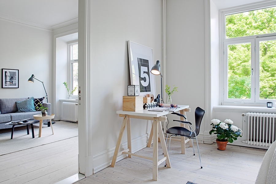 Abraza la sencillez y la funcionalidad monta un estudio - Despacho en casa ikea ...