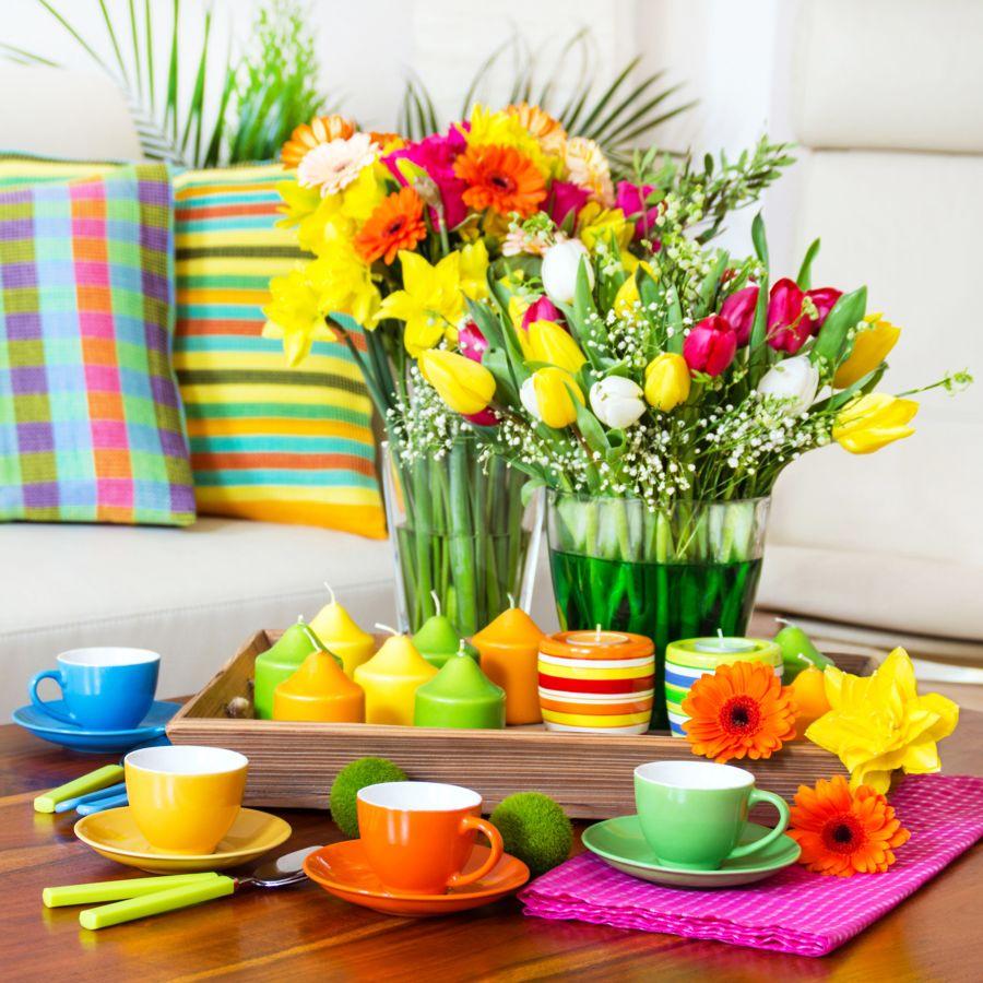 Detall floral para la mesa del salón