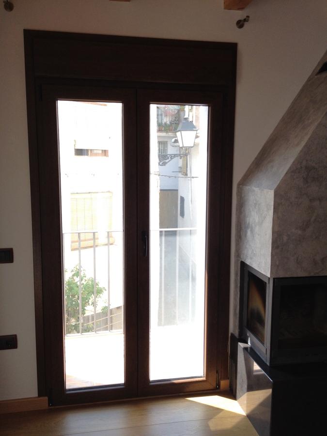 Detalle balconera salón interior