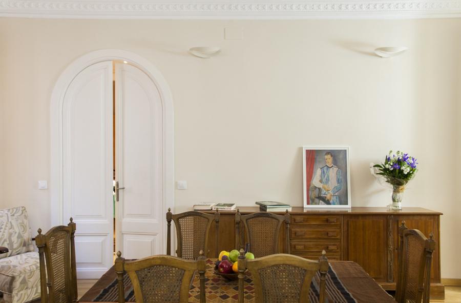 Detalle carpinterias restauradas