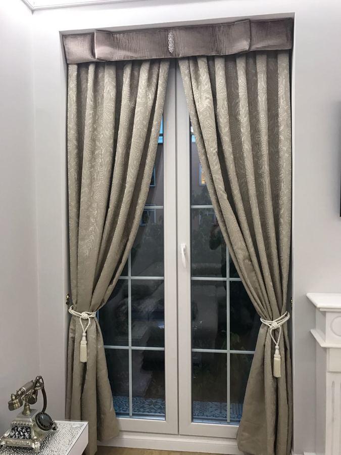 Detalle de cortina y bandó