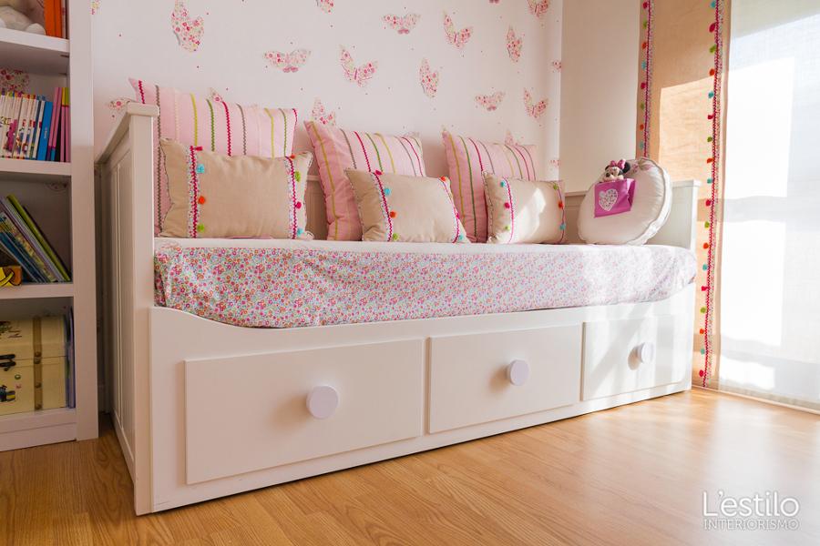 Foto detalle de la cama nido de l 39 estilo interiorismo - Dormitorio infantil segunda mano ...