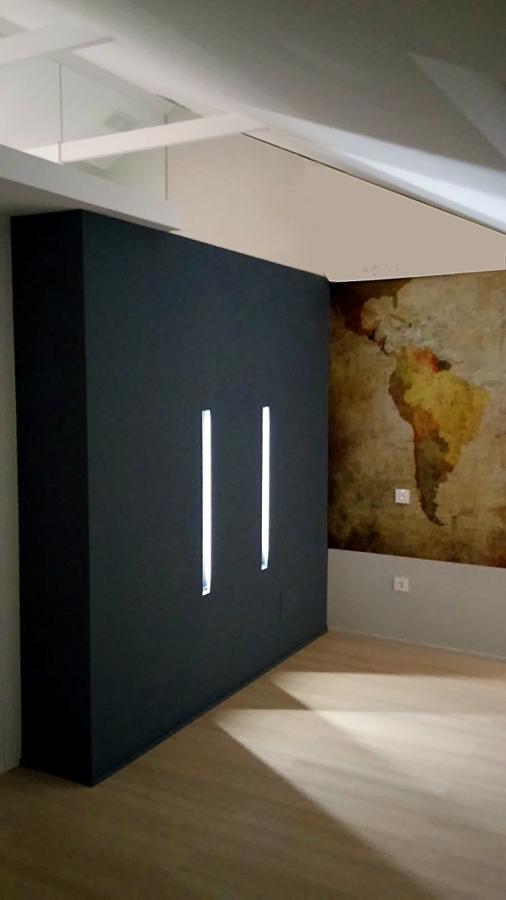 Detalle de la iluminación para las tablas