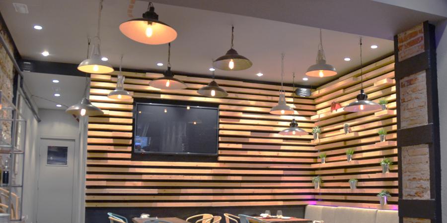 Detalle de la instalación de iluminación