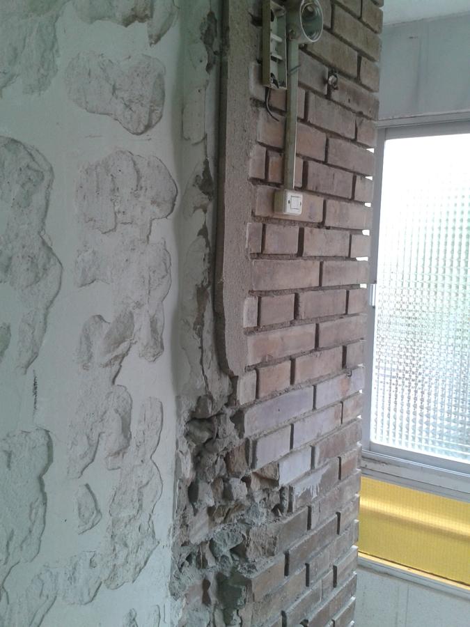 detalle de las paredes zona lavadero
