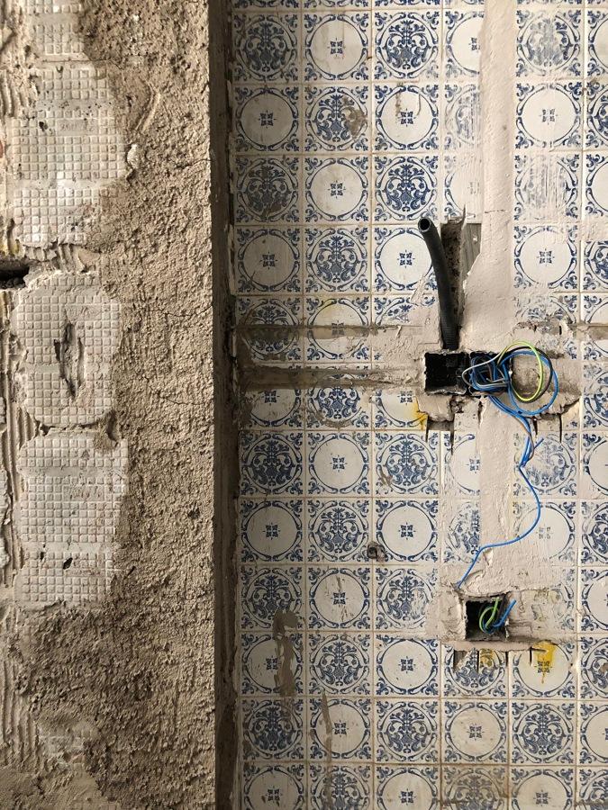 Detalle de los azulejos originales