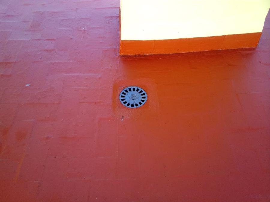 Detalle de pavimento de terraza DESPUÉS