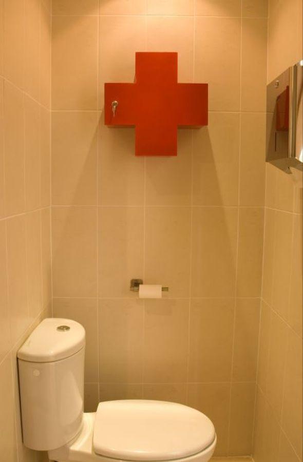 Detalle de uno de los baños.