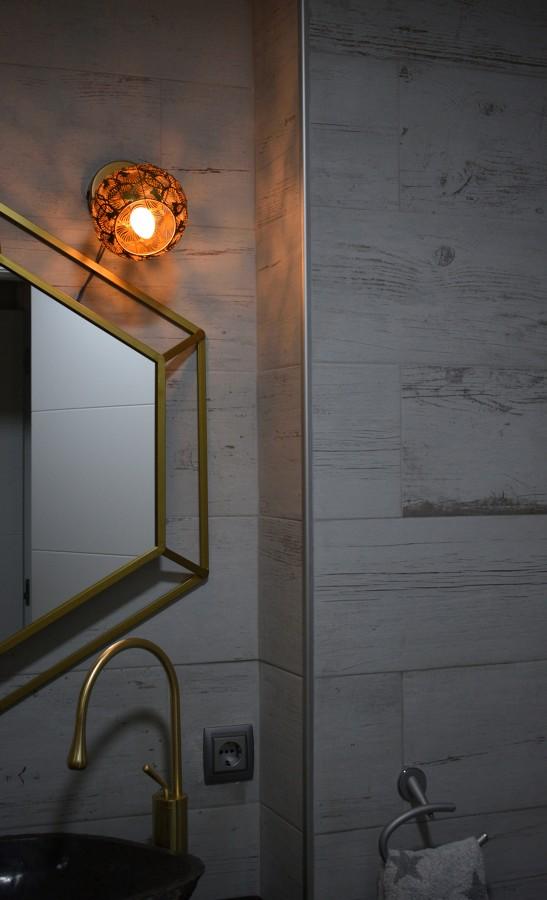 Detalle del baño de la vivienda