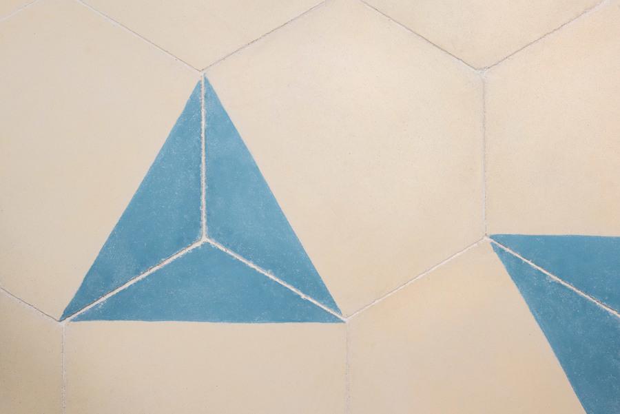 Detalle del suelo Hidráulico Hexagonal
