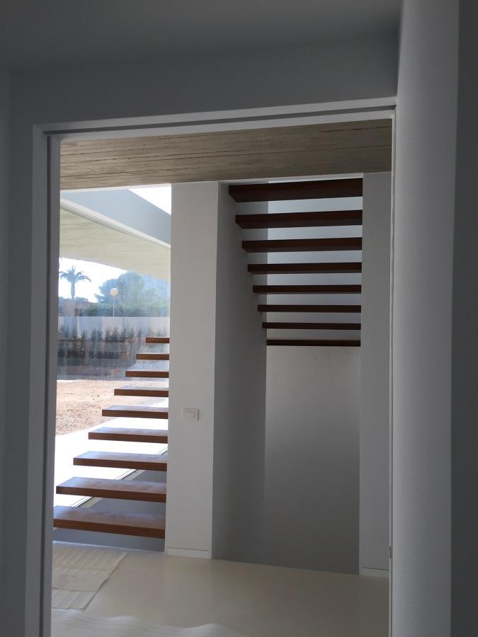 Detalle escalera interior vivienda