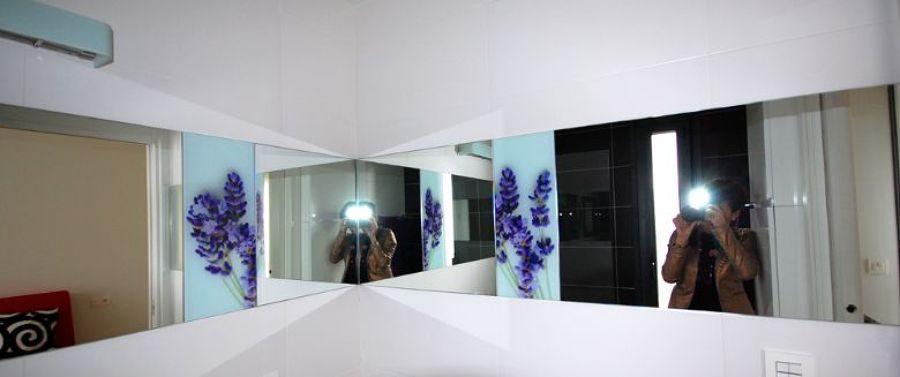 Detalle espejo baño