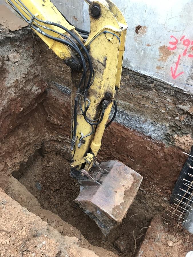 Detalle excavación