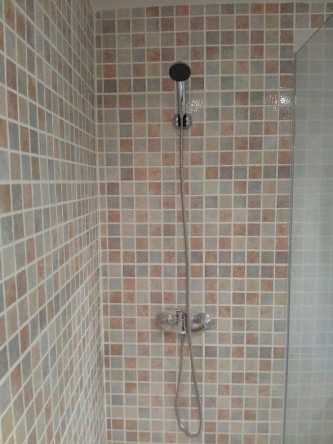 Detalle griferia monomando y ducha