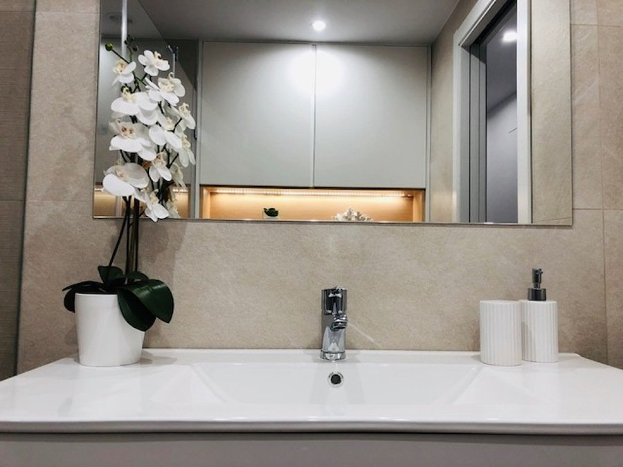 Detalle hornacina baño principal