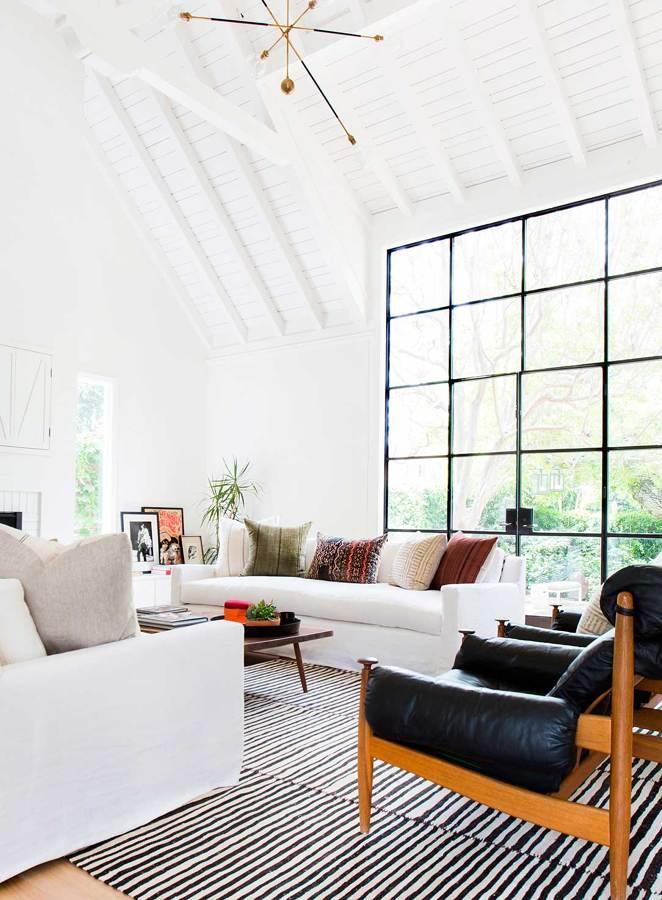 Detalle lámpara y ventana de salón