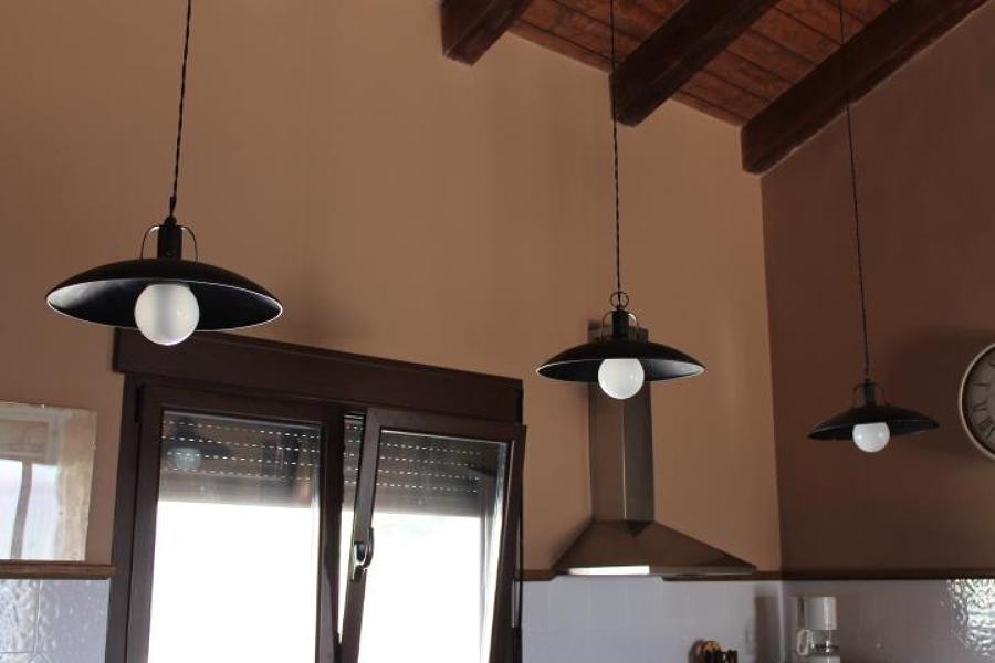 detalle lamparas cocina