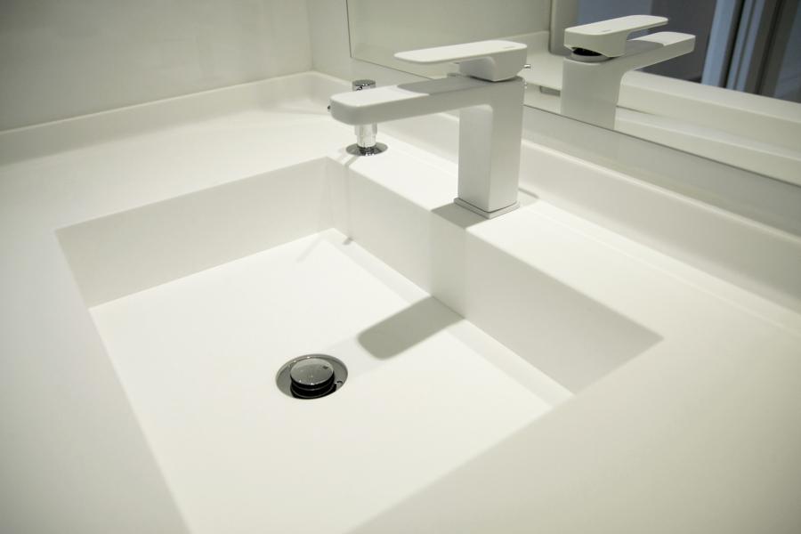 Detalle lavabo de Krion