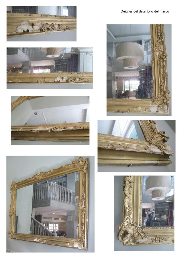 Detalle marco espejo estilo Victoriano