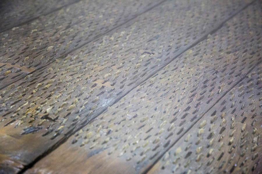 Detalle mesa salón