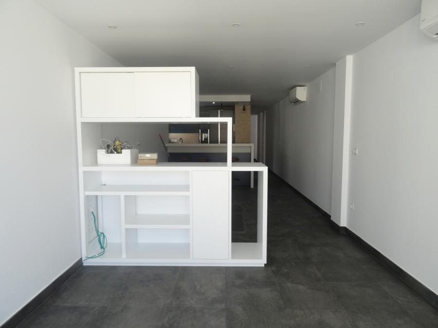 Detalle mueble a medida en salón