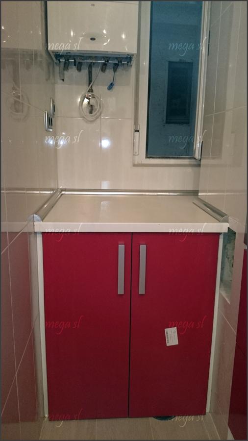 Foto detalle mueble de cocina para lavadora de mega s l for Mueble para lavadora