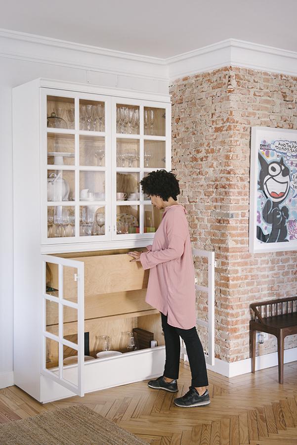 Detalle mueble vitrina