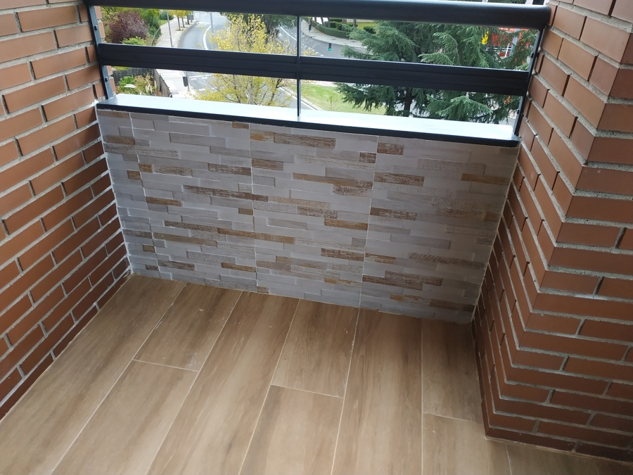 Detalle pared corta terraza