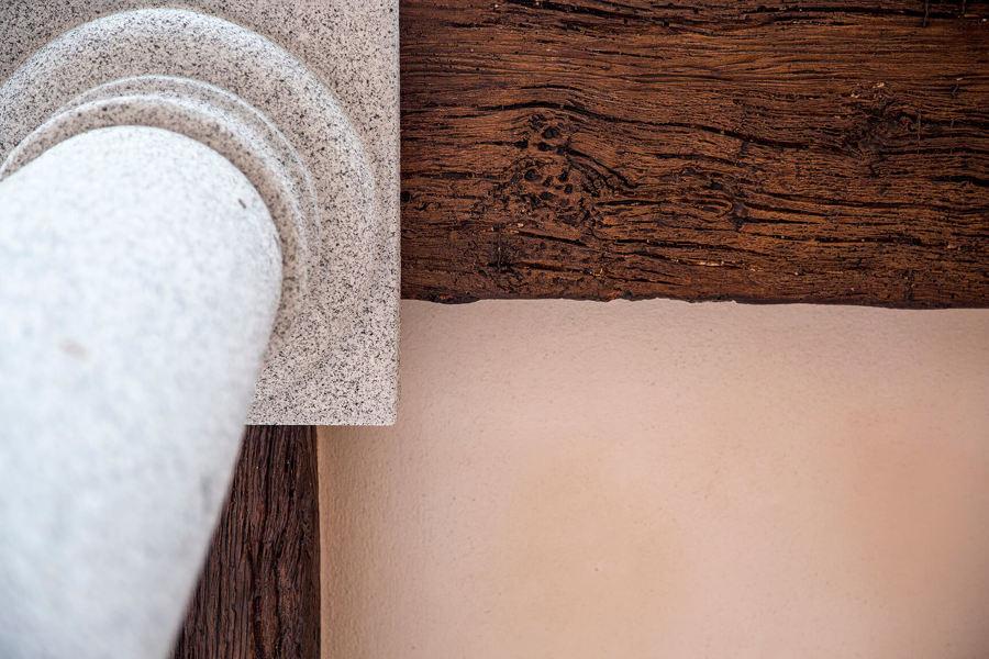 Detalle pilar granito y viga