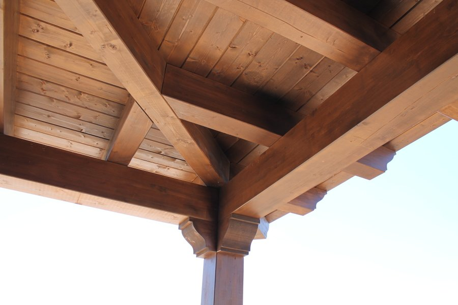 Detalle porche madera