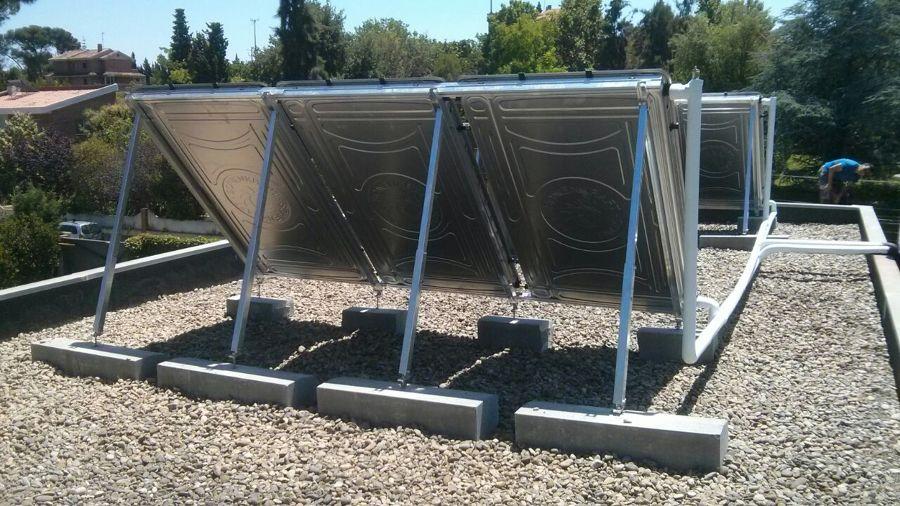 Instalaci n solar para producci n de agua caliente y apoyo - Placas solares agua caliente ...
