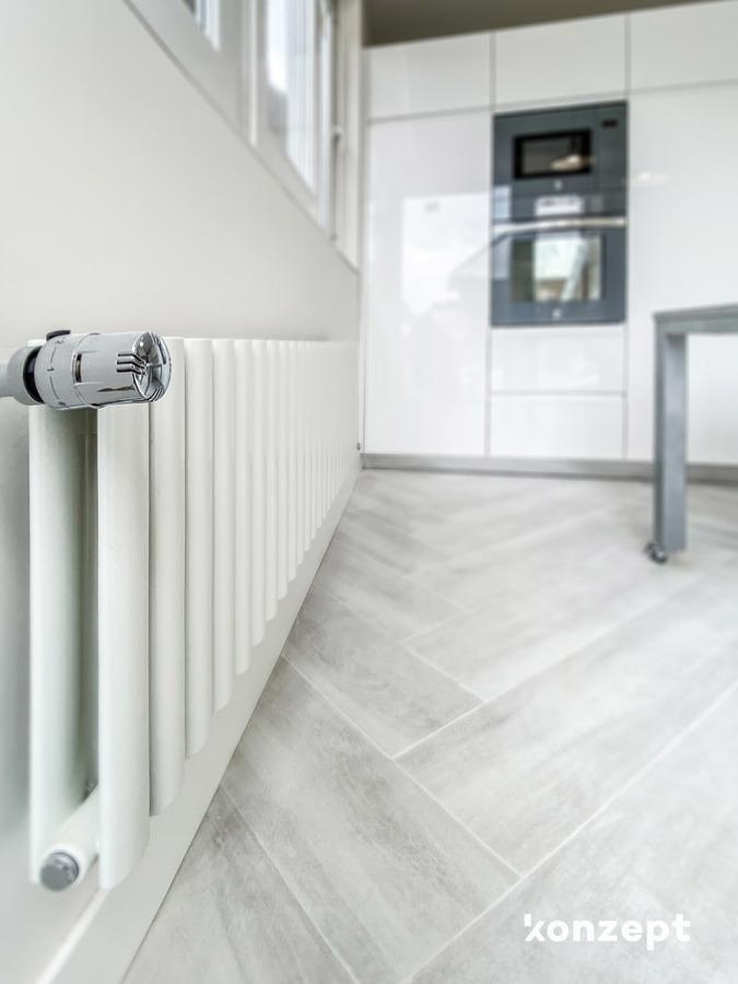 Detalle radiador en cocina