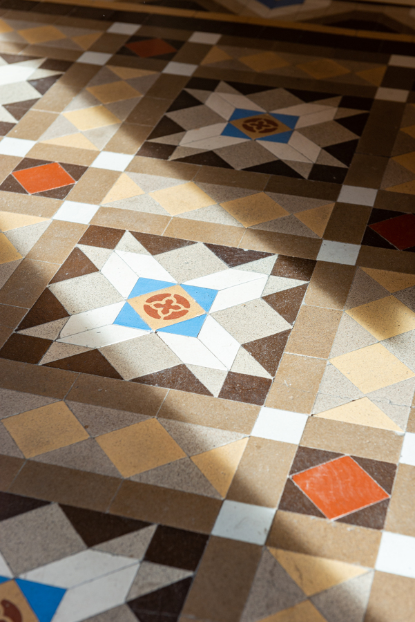 Detalle suelo de mosaico