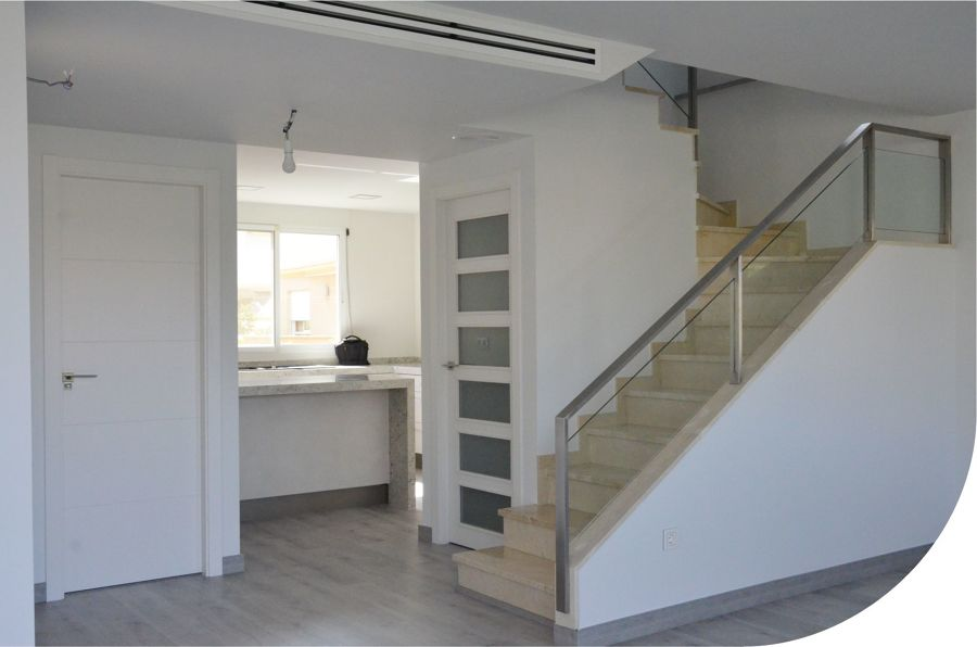 Detalle vista escaleras